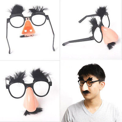 Moustache Glasses Halloween Party Fancy Funny Dress Big Nose Cosplay Disguise
