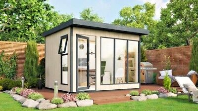 12x8 Insulated Garden Office Evolution With Fully Fitted Internal Electrics