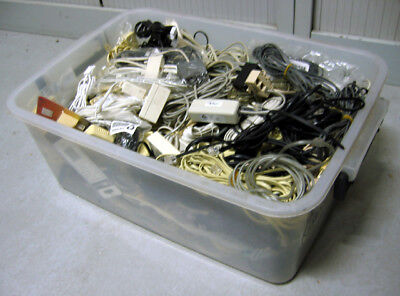 Bulk Telephone Connector Cables Adaptors Mostly OZ and some UK type some new