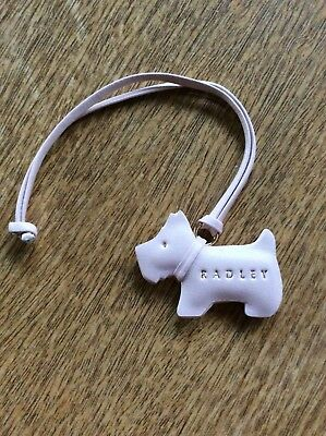 Radley 3D Dog Tag Baby Pink Leather Brand New with Tags