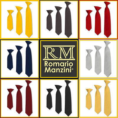 Romario Manzini® Kids Solid Clip on Tie (50 colors)
