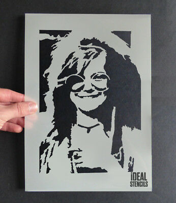 Janis Joplin Stencil Home Decor Portrait Art Wall Painting Craft Reusable Mylar