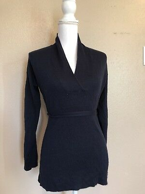 Navy Blue Maternity Sweater By Oh Baby Motherhood Size Small