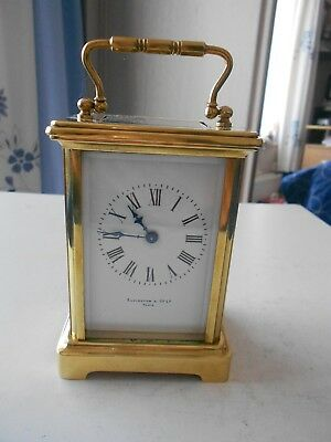 Vintage, antique brass carriage clock timepiece, excellent condition.