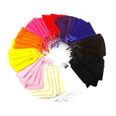 5x Jewelery bag gift pouch Drawstring Gift Bag pouches-VELVET wedding favors FO