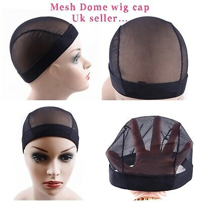 Full wig cap black mesh net dome cap for wig making with weave