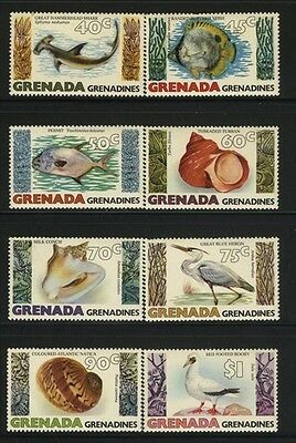 Grenada-Grenadines MNH Sc 341-48 Marine Life Value $ 8.05 US $$