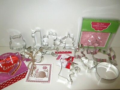 Tin Plated Steel Cookie Cutters  Ann Clark  13 Cookie Cutters & Recipe Cards