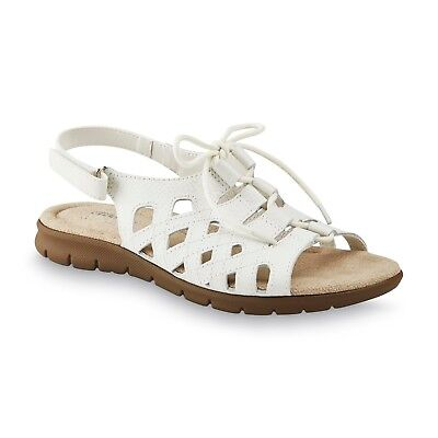 9af0da7d8be9 New Womens Cobbie Cuddlers Michaelene Sandal Style 52071 Wide Wdt White  122F pr