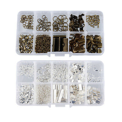2 Set Jewelry Finding Kits DIY Handmade Jewellry Supplies Bronze and Silver