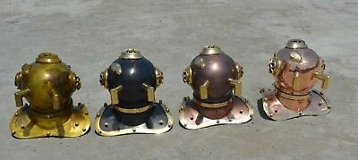 4 Pieces  Antique Mini Diving Divers Helmet U.s Navy Maritime Aus