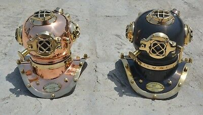 2 Pieces Antique Mini Diving Divers Helmet U.s Navy Maritime Aus