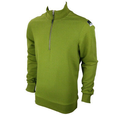 ADIDAS MEN'S HALF ZIP Green Sweat Track Top Sizes Medium & Large