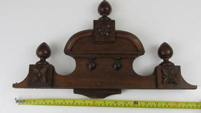 18f* 22//2 Pair of stained wood vienna regulator clock case   finials