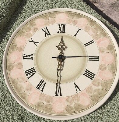 Jersey Pottery Wall Clock 11 inch Nice  background