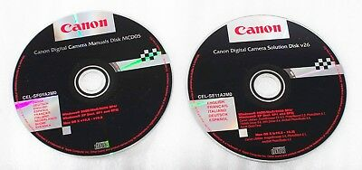 Canon Solution Disk v26 m. Zoom Browser, Photo Stitch etc.