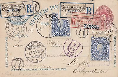 1895: registered post card from Mexico to New York