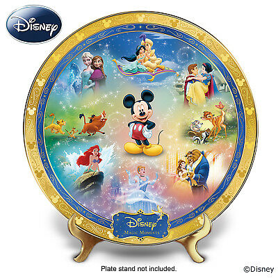 """Disney Magic Moments"" Heirloom Porcelain Collector Plate"