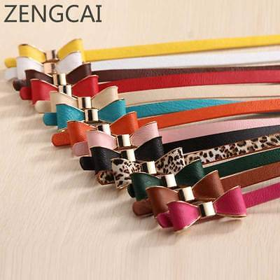 2017 Belts for Women Style Summer 13 Color Women Belt Luxury Brand Colorful Bow