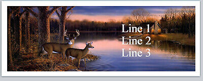 Personalized Address Labels Country Deer Buy 3 get 1 free (bx 679)