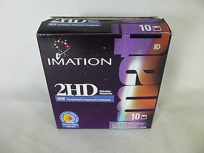 "Imation 9 2HD Floppy Disks 3.5"" - IBM Formatted"