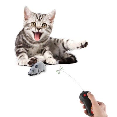 Durable Cat Toy Remote Control RC Rat Mouse Wireless For Cat Dog Pet Funny Toy