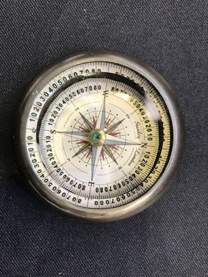 Solid Brass Nautical Floating Dial Paper Weight Compass Vintage