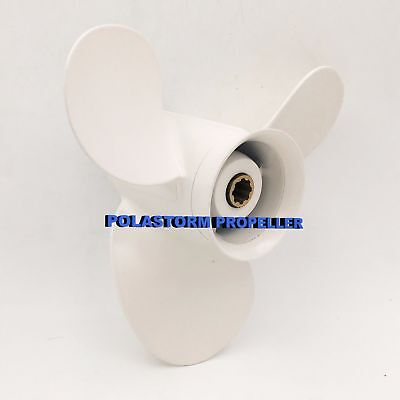 "Boat Aluminum Outboard Propeller 9-1/4X8"" for Yamaha 9.9-15HP 683-45947-00-EL"