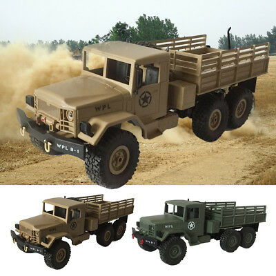 WPL 1:16 Electric RC Crawler Military Car Off Road 6WD 2.4G Remote Control Truck
