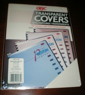 GBC Transparent Covers (for Plastic Binding System) – 25 Clear