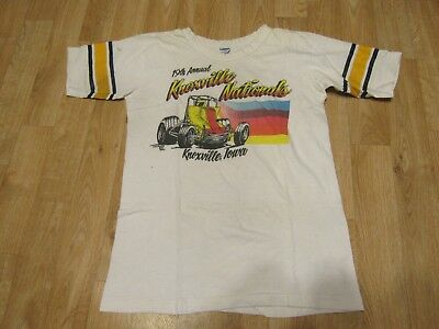 Vintage Knoxville Nationals sprint car racing shirt Champion 1970s 70s USA