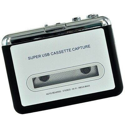USB Tape to PC Cassette to MP3/PC Converter Audio Music Player Capture Adapter