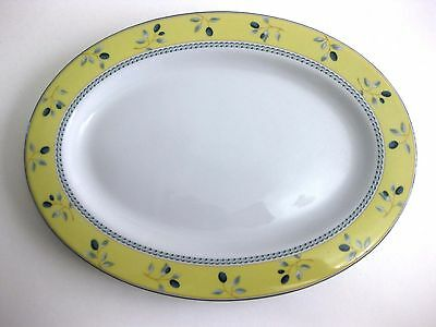 "Euc ""Blueberry"" By Royal Doulton China Oval Serving Platter 12 ¼ Inches"