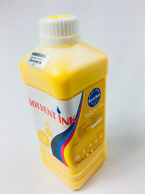 1000ml YELLOW Eco Solvent Ink for Roland Mimaki Agfa SOLJET Versa printer 1Lt.