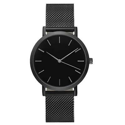 Sleek Stainless Steel Mesh Men's Quartz Wrist Watches Male Wristwatches