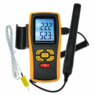 2 in 1 Humidity & Temperature Thermometer Meter Type K Thermocouple -30 ~ 1000°C
