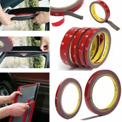1pc 3m Car Acrylic Foam Double-sided Adhesive Glue Tape Roll 6/8/10/12/15/20mm