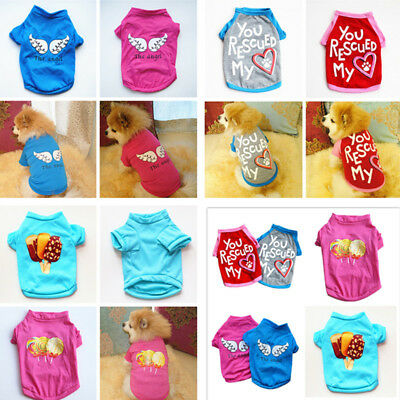 Various Puppy Dog Cat T-Shirt Summer Spring Vest Hot Small Pet Clothes Costume
