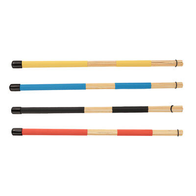 Pair of Jazz Drum Brushes Bamboo Drum Brush 4Color Option Rod Drum Sticks