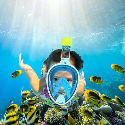 Adult Kid Full Face Snorkeling Mask Scuba Diving Swimming Snorkel Breather Pipe