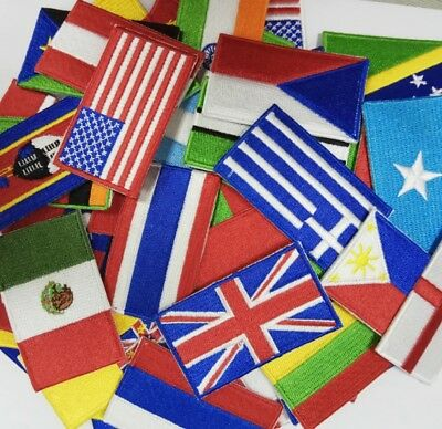 National Country Embroidered Flag Sew On/ Iron On Patch Choose Your Country