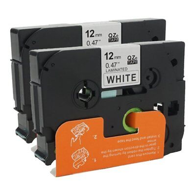ANMO 2 Packs Standard Laminated Label Tape Compatible for Brother P-Touch TZe231