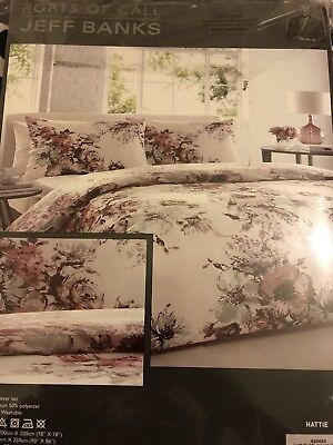 Jeff Banks Ports Of Call Double Duvet Cover Set 2 Pillow Cases Hattie New