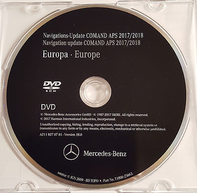 2018 Mercedes-Benz DVD Comand Aps Europa NTG2 A/B/C/CLK/G....Klasse NEUE VERSION