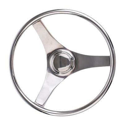 Boat Stainless Steel 13.4'' 34cm Steering Wheel 3 Spoke Marine Yacht