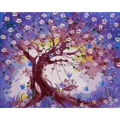 Large Framed Painting By Number Kit 40*50CM F032 AU STOCK Trees S4