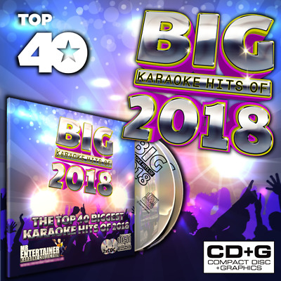 Mr Entertainer BIG Karaoke Hits of 2018. Double CD+G/CDG Disc Set. Top 40 Chart
