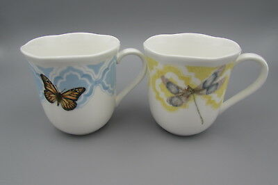 Lenox China Butterfly Meadow TRELLIS Mugs - Set of Two