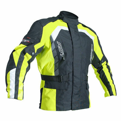 RST Flo Yellow Alpha IV 4 Textile Waterproof Motorcycle Motorbike Bike Jackets