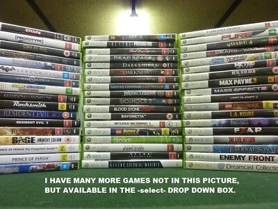 MICROSOFT XBOX 360 GAMES selling my collection
